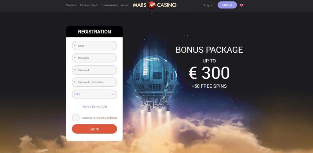 mars casino homepage