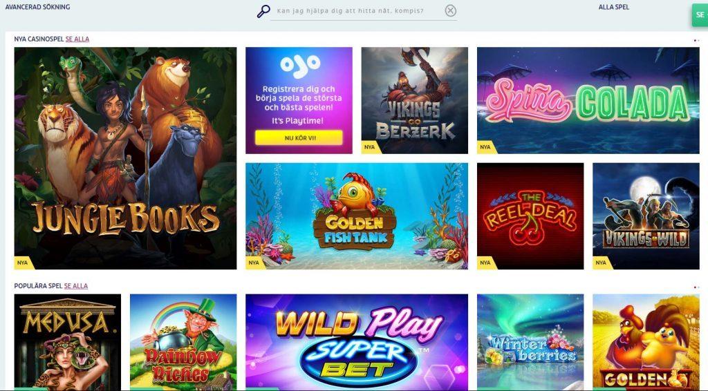 Play OJO Casino games